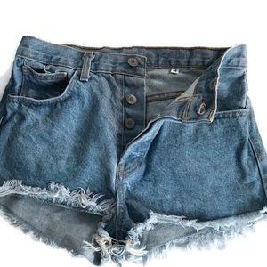 Cut off Jean Shorts Button Fly John Galt Hi Rise M